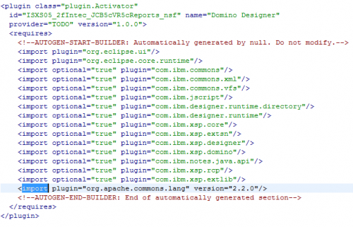 Plugin.xml XML Editor Before