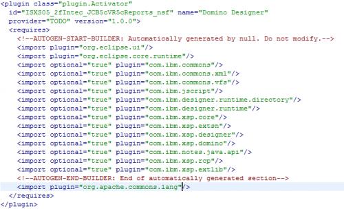 Plugin.xml XML Editor After