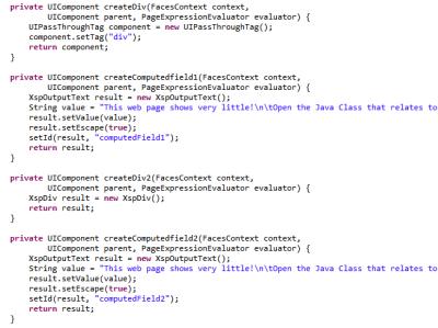 HTML XSP Split