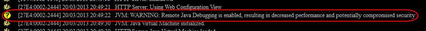 Debugger Message