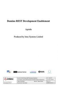 Domino-REST-Development-Training