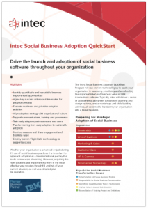 Intec Social Business Adoption Quickstart