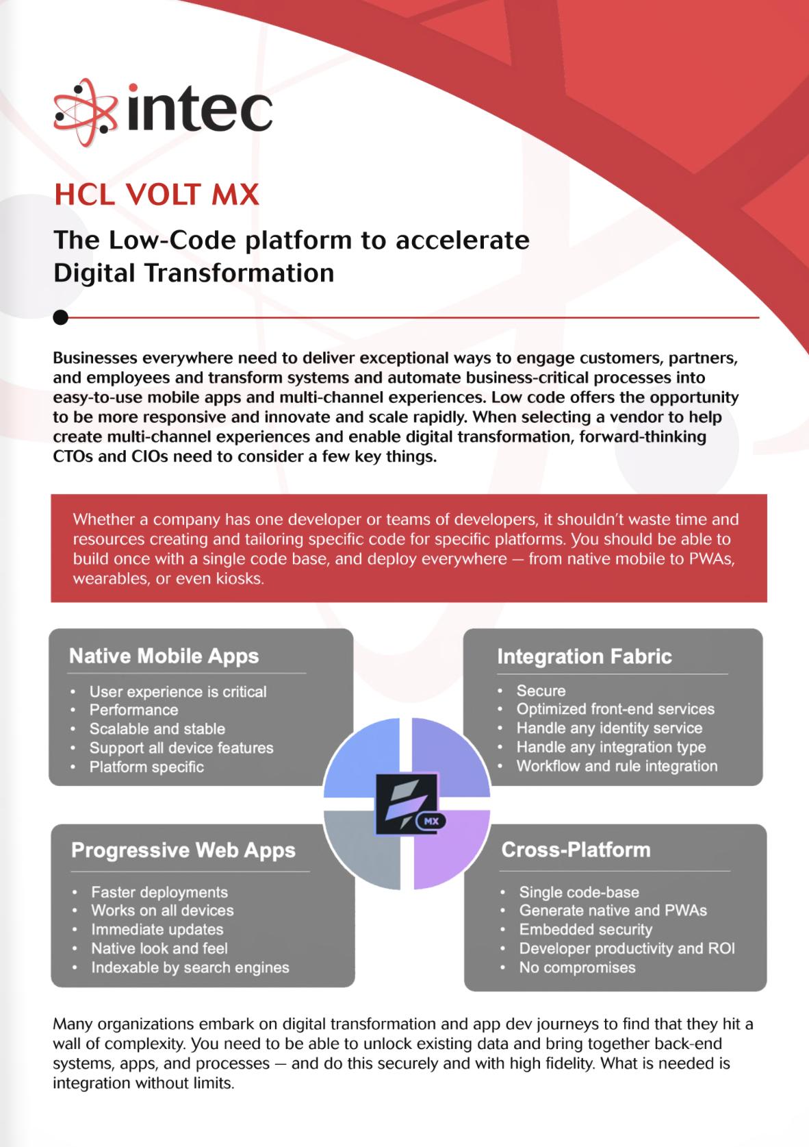 HCL Volt MX eBrochure